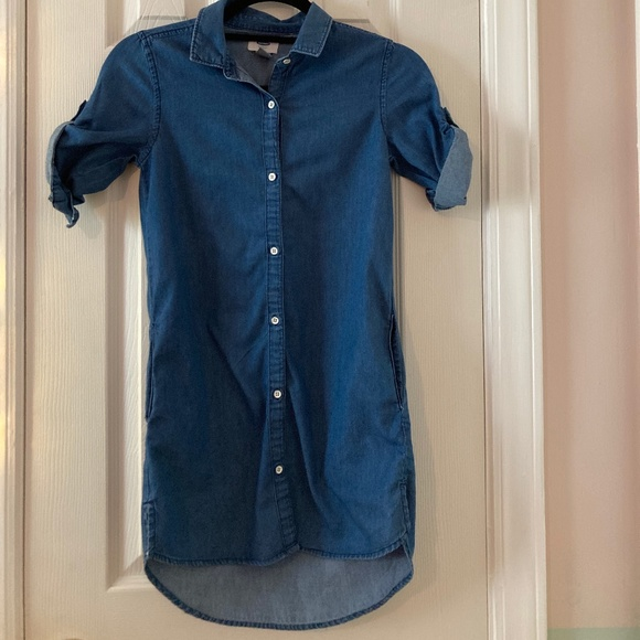 Old Navy Denim tunic rolled cuff sleeves